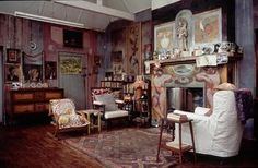Charleston, the home of artist Vanessa Bell and writer Clive Bell in Sussex.