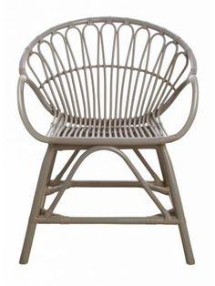 Housedoctor Eetkamerstoel grijs bamboe 60x44x80cm, Dining chair Bamboo grey