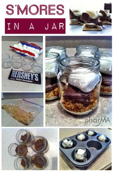 S'mores in a Jar | 41 Easy Things To Do With Mason Jars going camping soon going to have to try this!