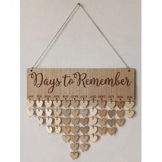 Days to Remember Wall Hanging DIY Wood Calendar - Wood Letters Birthday Calendar Board, Family Birthday Board, Birthday Wall, Birthday Gifts, Diy Wall Art, Diy Wall Decor, Decor Crafts, Art Decor, Inspire Me Home Decor