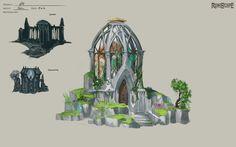 Fantasy City, Fantasy Kunst, Fantasy World, Fantasy House, Landscape Concept, Fantasy Landscape, Minecraft Architecture, Art And Architecture, Elven City