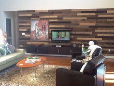 Modern wood slat wall ❤️