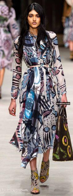 Fall Forward! Designer Dress Burberry Prorsum Fall 2014