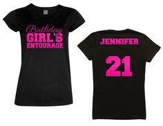 Birthday Girls Entourage With Script By MagicalMemoriesbyJ 40th Ideas For 21st Bday