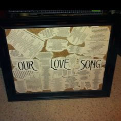 I canvas I made for my wife for valentines day. I took all of our favorite versus from love songs of different genres and also put song we danced our first dance to as a married couple. Valentine Crafts, Valentine Day Gifts, Cute Ideas For Boyfriend, Valentines Day Husband, First Anniversary Gifts, Relationship Gifts, Love Days, Canvas Quotes, Cute Wedding Ideas