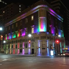 The Masonic Temple, Toronto, ON showing it's pride at Yonge & Davenport.  Summer 2016.