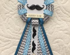 Mommy to be ribbon corsage for baby shower PLUS by KatrinaInvites