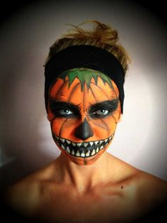 Pumpkin Face - Halloween makeup | Halloween | Pinterest ...