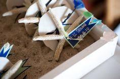 starfish sand dollar place holders
