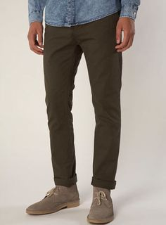 Khaki Skinny Chinos 32/32 like my other ones. If you see any other pants with a slimmer fit in my size then thats cool. I also like this darker color.