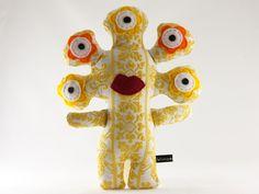 """Kuscheltier // Cuddle toy """"Freya Vielauge"""" by Wimperklimper via DaWanda.com"""