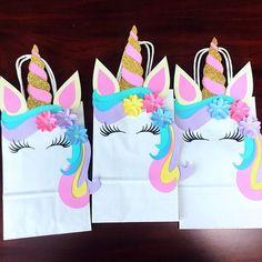 Bolsitas de unicornio para regalar a tus mini invitados en un #cumpleaños #infantil.