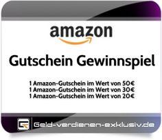 #Gewinnspiel #Amazon Gutschein  http://geld-verdienen-exklusiv.de/amazon-gutschein-gewinnspiel/