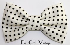 Vintage Style Hair Bow Clip- Polka Dot- Fabric Hair Bow-Rockabilly-Pin Up- Mod- For Women, Teens, Girls, Babies, Children by FlyGirlVintage on Etsy Rockabilly Baby, Rockabilly Fashion, Rockabilly Style, Bow Hair Clips, Bow Clip, Teen Fashionista, Polka Dot Fabric, Polka Dots, Fabric Hair Bows