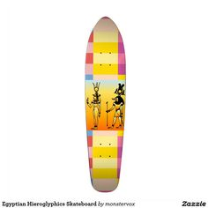 Egyptian Hieroglyphics Skateboard #Egyptian #Egypt #Hieroglyphics #SkateBoard #Sports