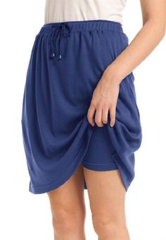 Woman Within Plus Size Skort in soft sport knit with custom-fit waist