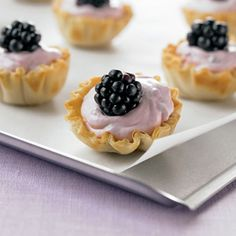 These pretty summer tartlets can easily be prepared ahead. The filling can be made up to 12 hours in advance and kept covered in the refrigerator, and the tarts can be filled up to one hour before serving.