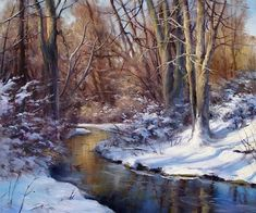 Andrew Orr - Late Afternoon in Winter- Oil - Painting entry - August 2010   BoldBrush Painting Competition #OilPaintingWinter