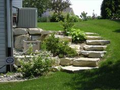 Outdoor: Landscaping Ideas For Front Yard Unique Sloped Backyard Landscaping Ideas Awesome Garden Designs Sloping - Lovely Landscaping Ideas for Front Yard Steep Hill Landscaping, Sloped Backyard Landscaping, Cheap Landscaping Ideas, Sloped Yard, Landscaping With Rocks, Luxury Landscaping, Backyard Ideas, Landscaping Software, Backyard Decorations