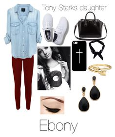 Tony's daughter:Ebony by liltwinki on Polyvore featuring polyvore, fashion, style, WearAll, Keds, Givenchy, Kenneth Jay Lane, Bling Jewelry, Casetify and Boohoo