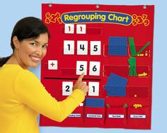 Lakeshore's Regrouping Activity Chart gives children the practice they need to master regrouping concepts—and add & subtract large numbers with ease!