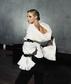 the white shirt gianfranco ferre | This is a piece of several influences: tribal bracelets, an almost ...