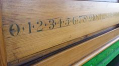 Antique Pine scoreboard. Folk Art Style. B670 | Browns Antiques Billiards and Interiors.