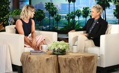 """[ew_brightcove videoid=""""4770210187001"""" pushTop autoPlay] Kaley Cuocostopped by The Ellen DeGeneres Showon Tuesday and gotcandidabout her divorce from Ryan Sweeting, which kicked off a """"rough"""" year for theBig Bang Theoryactress. But she also poked some fun at an ill-advised tattoo: her wedding date.  """"Don't tattoo wedding date, I know, I know,"""" Cuoco said, playfully cringing."""