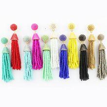Seedbeads Seed Beads Tassel Drop Earrings