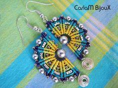 Macrame Earrings. Craft ideas from LC.Pandahall.com   #pandahall