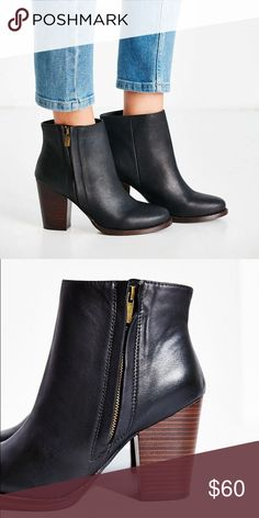 NWT never worn. All offers accepted! Got these without trying them on and well they run a size small. Fits more like an 8. :/ my loss your gain. Please no low balls...I'm not selling these brand new booties that have never been worn for $20... Cheaper on M Urban Outfitters Shoes Ankle Boots & Booties