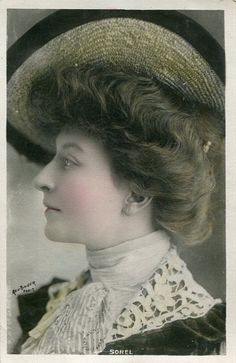 French Actress miss Cecile Sorel, 1900s