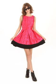 Harry and Zoe - Hot Fuchsia Sleeveless Pleated Dress, $89.00 (http://www.harryandzoe.com/hot-fuchsia-sleeveless-pleated-dress/)