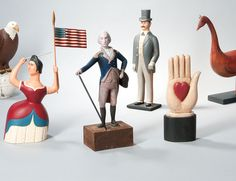 Selection of Contemporary Folk Art Figures from Auction 2959M