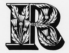 This capital letter R is from an ornamental alphabet produced at the nineteenth-century type foundry of Louis John Pouchee.