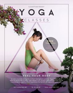 Free Yoga Flyer Template - http://freepsdflyer.com/free-yoga-flyer-template/ Enjoy downloading the Free Yoga Flyer Template created by Elegantflyer! #Air, #Aircraft, #Club, #Flyer, #Information, #Party, #Plane, #Sky, #Tourist, #Travel