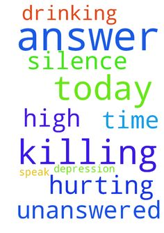 God please answer my prayer today. It is killing me - God please answer my prayer today. It is killing me that it is unanswered. My depression and drinking is at a all time high. Please speak to me and answer my prayer. Your silence is hurting me. Posted at: https://prayerrequest.com/t/UqJ #pray #prayer #request #prayerrequest
