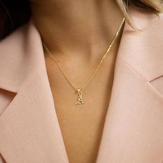 Old English Pendant Necklace - Personalized Gothic Initial Necklace - Gold initial Necklace - Gothic initial necklace - Christmas Gift  Every letter and Number is avaliable  Available options: Uppercase or Lowercase 925 Sterling Silver 14k Yellow gold filled  Rose gold filled ♥ Please