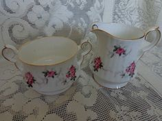 Vintage cream and sugar set  Princess House by FeliceSereno, $25.00