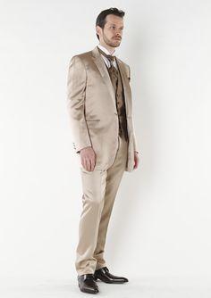 2013 New Designed Short Tuxedos 100% Wool Champagne Wedding Tuxedos/ Prom Suit for men 4 Pieces set (jacket+pants+tie+waistcoat) on Suzhou Itilor Wedding Ltd. $159.00