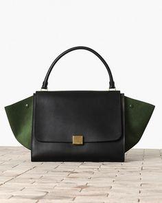 Handbag in pelle bicolor- CELINE