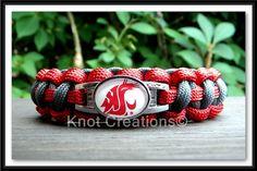 Washington State University Cougars paracord bracelet