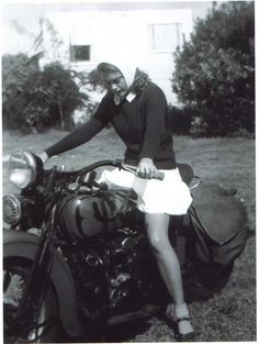 I had a dream about riding on a motorcycle. || vintage motorcycle photo
