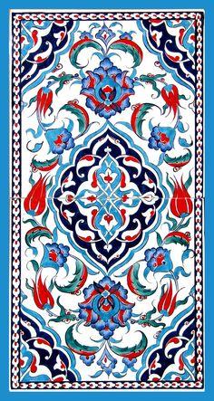 Iznik tiles for alcove Turkish ceramic art Turkish Art, Turkish Tiles, Portuguese Tiles, Moroccan Tiles, Tile Patterns, Textures Patterns, Motif Oriental, Islamic Tiles, Islamic Art Pattern