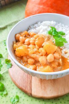 Przepis na Curry z dyni i ciecierzycy Chana Masala, Cantaloupe, Fruit, Ethnic Recipes, Food, Essen, Meals, Yemek, Eten