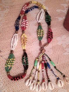 Santeria. yoruba Small mazo necklace for the 7 por tiendaAmerican