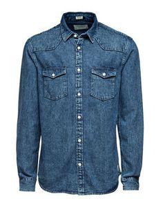 Stone Shirt, Dark Blue Denim, main
