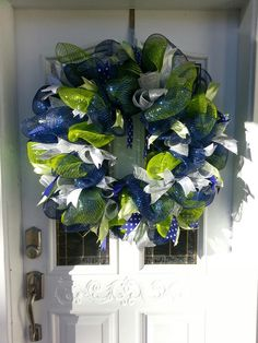 Seahawks Decor Mesh Wreath