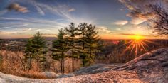 Posted 4/18/12 on www.phogropathy.com 'The Top of Lookout Rock' - Panoramic HDR