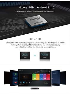 HAOSIHD W95 Android 7 1 TV Box Smart TV Box Amlogic S905W Quad Core